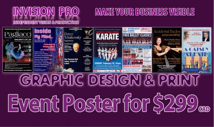 Event Poster for $299* Flat Rate