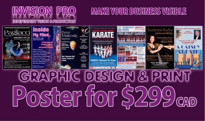 Event Poster for $299 Flat Rate