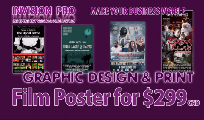 Film Poster for $299* Flat Rate