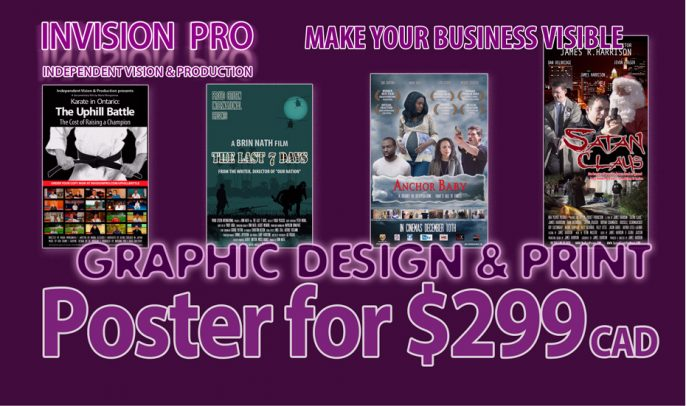 Film Poster for $299 Flat Rate