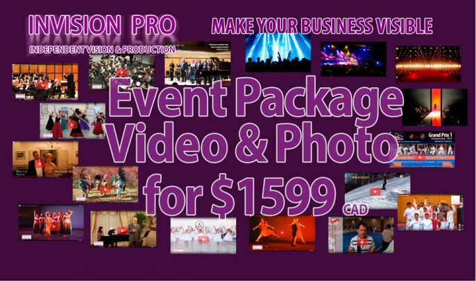 Event Package Video+Photo for $1599* Flat Rate